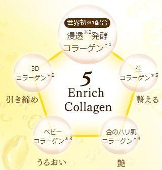 5種類のコラーゲンが配合